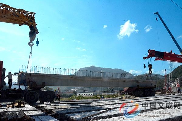 完成梁板铺设 兴福堂大桥项目进入通车倒计时