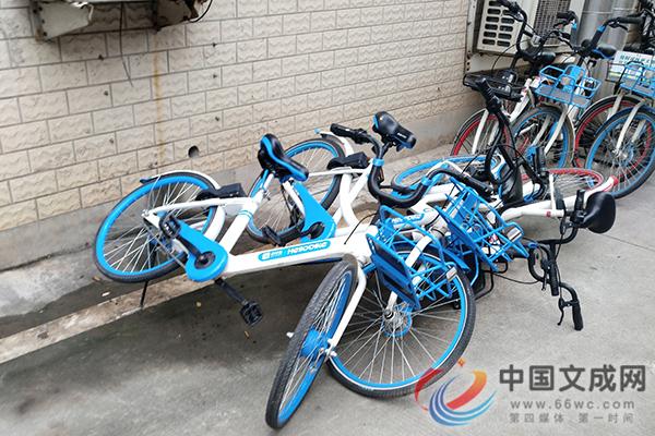 """人行道成""""问题""""共享单车临时修理堆放点?"""