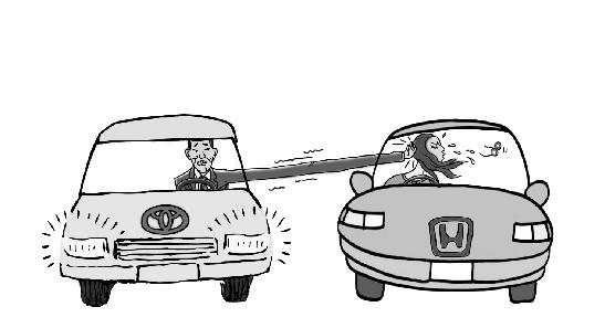 """宝马""""斗气别车""""8分钟9次 司机被处行政拘留12天"""