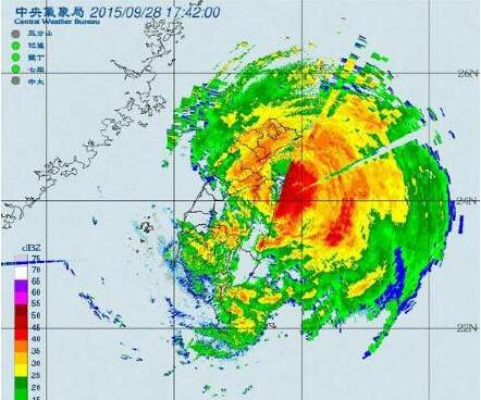 """台风""""杜鹃""""已在台湾登陆"""