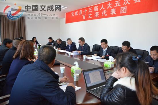 县委书记汪驰参加百丈�T、黄坦代表团审议