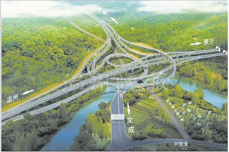 龙丽温高速公路瑞文段