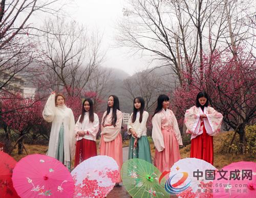 香约梅海 �N口新联村举办首届梅花节