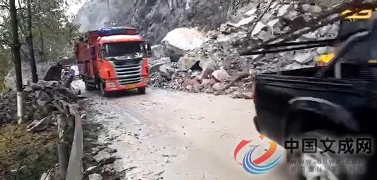 �N院线孔岙路口附近塌方 目前已恢复半幅通行