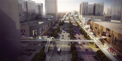 高铁新城空中连廊一期项目开工 连接温州南站及周边商城