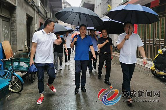 县委常委、宣传部长郑文东带队督查文明县城创建迎检工作