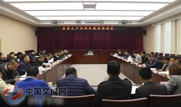 文成县委布告王彩莲到场县庞大财产项目设置装备摆设推进会